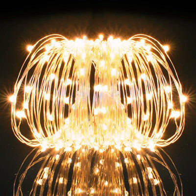 40ft 120 LED Fairy Lights String Battery Operated Xmas Wedding Party Decoration