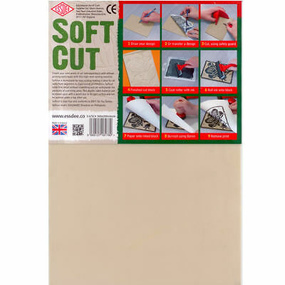 Softcut Lino Block 300 x 200 x 3mm  - Pack of 2