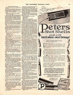 1919  Magazine Print Ad Peters Shot Shells Advertisement A120