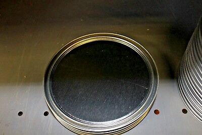 "Lot of 10 1 Gallon Paint Can Lid 6 1/4"" Diameter Metal Standard Size"