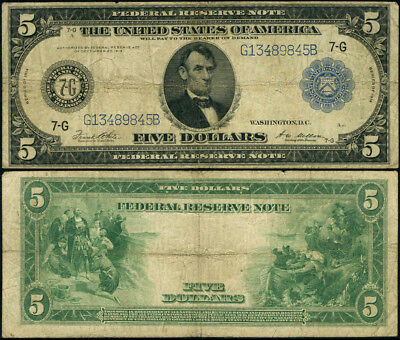 FR. 871 A $5 1914 Federal Reserve Note Chicago Fine Early Fed Note
