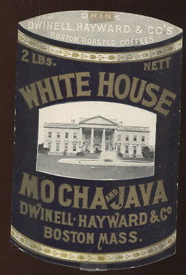 1880-90S Die Cut Tc Coffee Can Shape, White House Coffee, Bauer Grocer, St Louis