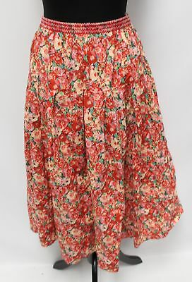 Vintage LIBERTY Plus Red & White Floral Skirt 14 - 16  - B84
