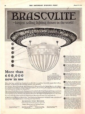 1919  Magazine Print Ads Brascolite Advertisement A132
