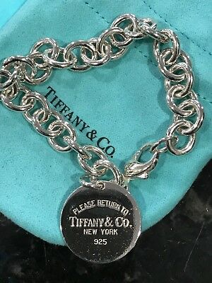 "Vintage Sterling Tiffany and Co. round tag bracelet ""Return to Tiffany &Co"""