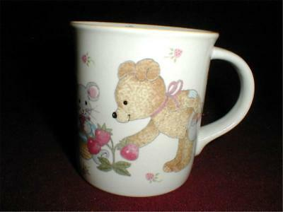 Mikasa Juvenile Child Children TEDDY Bear & Mouse Strawberry Cup