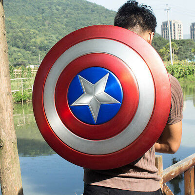 Captain America Vibranium Shield Made of Aluminum Alloy 1:1 Scale Cos Collection