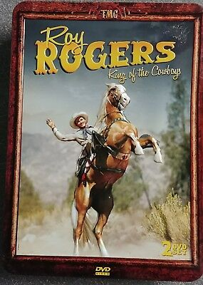 New ROY ROGERS COLLECTION KING OF THE COWBOYS 2 DVD Set Metal Case
