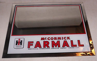McCORMICK FARMALL INTERNATIONAL HARVESTER GLASS ADVERTISING MIRROR IH FARM