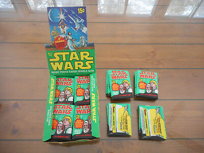 (1) 1977 Topps Star Wars 4th Series 4 Green Border Unopened Sealed Wax Pack EX-