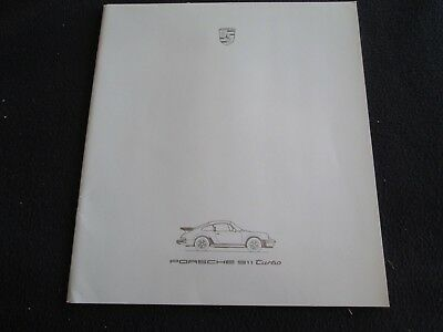 1986 Porsche 911 Turbo Deluxe US Brochure Rare 930 Turbo Coupe 50p Sales Catalog