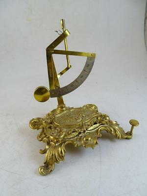 Vtg Brass Stamp Holder Scale French Desk Organizer Art Nouveau Antique Postal