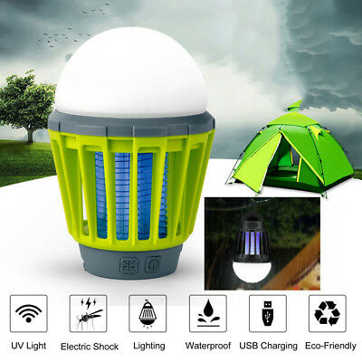 LED Electric Mosquito Fly Bug Insect Trap Zapper Killer Night Lamp USB Flashight