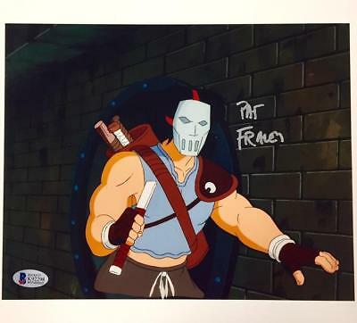 PAT FRALEY voice of Casey Jones TMNT Autograph Signed 8x10 Photo BAS Beckett COA