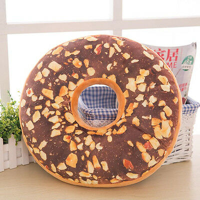 Soft Plush Pillow Stuffed Seat Pad Sweet Donut Foods Cushion Cover Case Toys