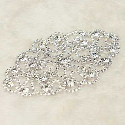 1 Pc Rhinestone Crystal Applique Wedding Bridal Dress Sew On Sewing DIY Craft