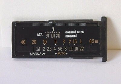 Calculator Panel for OLYMPUS T20 Flash Unit Metric OM-2 Mint Condition UK Seller