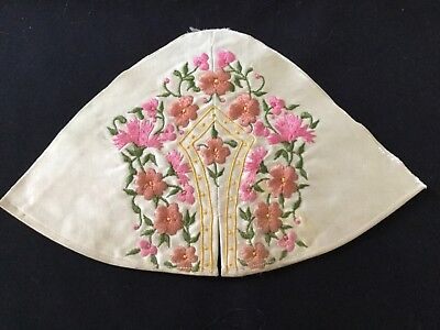 Sample Arts & Crafts style silk embroidery - part of garment?