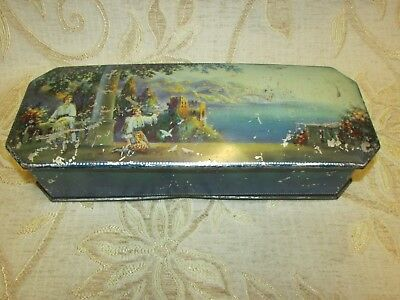 "Large Antique "" Fairy Tale "" Huntley & Palmers Biscuits Tin - 1920's"