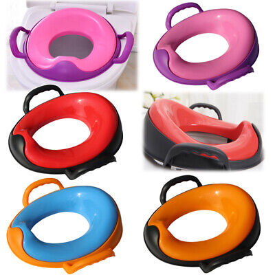Kids Baby Safety Soft Padded Toilet Trainer Child  Seat
