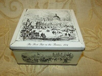 "Vintage Carrs Of Carlisle Biscuits "" The Frost Fair On The Thames 1684 "" Tin"