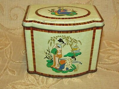 Vintage Ringtons Ltd. Chinese Style Tea Tin
