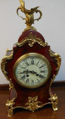 french shell and ormolu late victorian striking mantel clock
