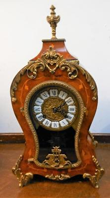 franz hermle french style inlaid mantel clock