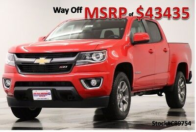 Chevrolet Colorado MSRP$43435 4X4 Z71 Diesel Leather GPS Red Crew 4WD New Heated Black Seats Navigation Camera Duramax 17 2017 18 Cab Bluetooth USB