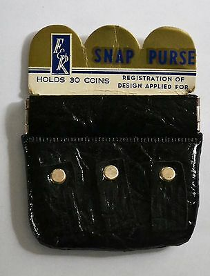 1970s Vintage F&R Snap Coin Purse Unused and Still on Card