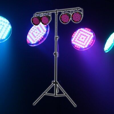 Equinox Party Par LED Par 56 Can DJ Disco Lighting Package with Stand & Cables