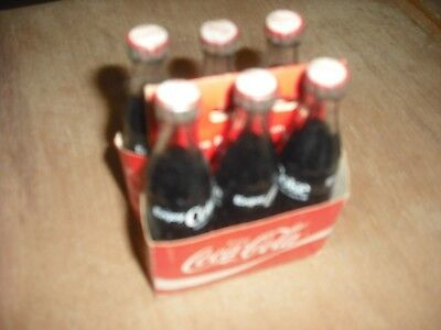 Vintage Antique Coca Cola Mini 6 Pack Glass Bottles Free Shipping