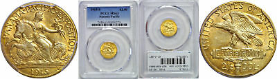 1915-S Panama-Pacific $2 1/2 Gold Commemorative PCGS MS-63