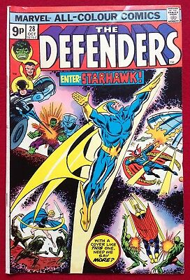The Defenders #28_First Starhawk_Key Issue Bronze Age Marvel Comic_1975_Gotg