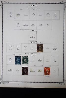Ceylon 1800's to 1960's Stamp Collection