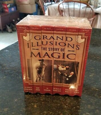 Grand Illusions The Story Of Magic 6 Vhs Set Sealed 1999 Picclick