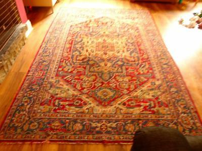 Stunning Rare Large Genuine Antique Hand Knotted Woven Middle Eastern Rug