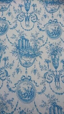 Fabulous Pair Vintage French Toile Curtains Chateau Refurbishment