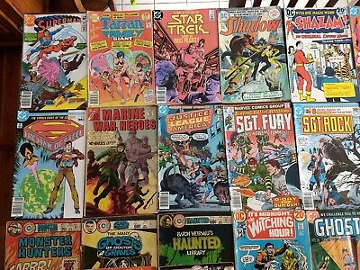 26 Bronze Age comic books Superman Sgt Rock Horror Charlton Ghosts Weird War etc