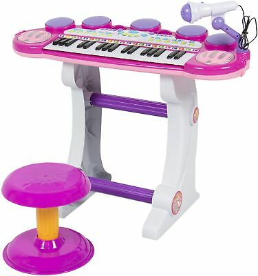 Musical Kids Electronic Keyboard 37 Key Piano W/ Microphone, Synthesizer, and -