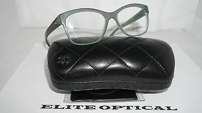 edf848d0678d CHANEL RX Eyeglasses New Authentic Clear Olive Quilted 3324 C.1531 52 16 140