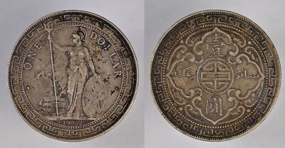 1902 B Great Britain Silver Trade Coin - One Dollar - Bombay Mint Mark !!!