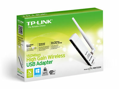 TP-Link TL-WN722N (Ver 2.0) 150Mbps High Gain Wireless USB Wi-Fi Network Adapter