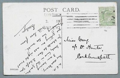 1910 Postcard sent to Miss Gray, C/o Dr. Hunter, Cockburnspath