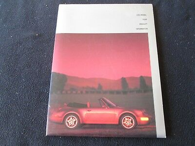 1993 Porsche 911 Press Kit 964 RS America Roadster Carrera 4 Media Info Brochure