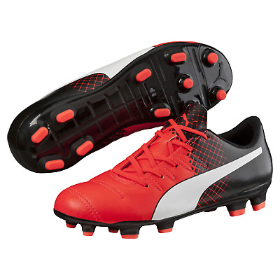 10d22b0c8a4 Kids Puma Evopower 4.3 Tricks FG Cleated Soccer Shoe Red 5.5  NGR22-M369