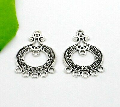 Free 10Pcs Tibetan Silver letter Connectors Charms For Jewelry Making 38x10mm