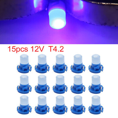 15pcs 12V Blue T4.2 Car Wedge LED Dash Gauge Instrument Panel Light Interior
