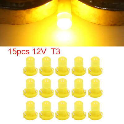 15pcs 12V Yellow T3 Car Wedge LED Dash Gauge Instrument Panel Light Interior