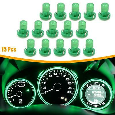 15pcs 12V Green T3 Car Wedge LED Dash Gauge Instrument Panel Light Bulb Interior